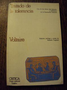 Tratado de la tolerancia / Voltaire ; edición, prólogo y notas de Palmiro Togliatti