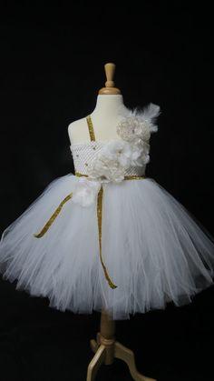 White Swan Princesss dress/snow queen dress/Angel by MyCuteFrills