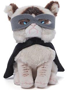 Gund Grumpy Cat Superhero Beanbag Stuffed Animal Plush ❤ Gund