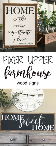 Handcrafted wood signs on Etsy! {Stone River Co.} Love these farmhouse style signs! Perfect for adding beautiful words all throughout the home. And I'm sure I've seen Joanna Gaines use them a time or two ;)   || farmhouse decor, farmhouse kitchen, farmhouse living room, farmhouse dining room, wall decor, handcrafted wood signs, fixer upper decor, fixer upper style ||