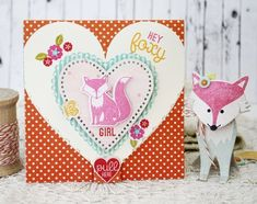 Hey Foxy Girl Valentine by Melissa Phillips for Papertrey Ink (December 2014)