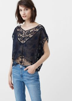 Clothing for Women 2019 Tops Bordados, Mango Outlet, Embroidery Fabric, T Shirts, Ideias Fashion, Latest Trends, Ready To Wear, Tank Tops, My Style