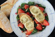 Salade chévre med jordbær