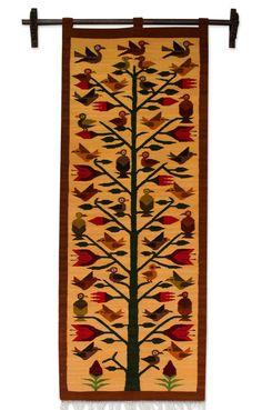Aves del Perú Tapices lana andinos hechos por artesanos