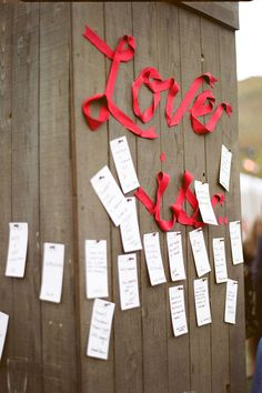 wall where guests leave sentiments instead of guestbook