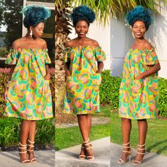 African clothing African fabric Ankara Dress by Shoplolaster