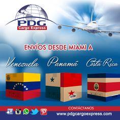 Somos especialistas en envíos desde Miami a Venezuela, Panamá y Costa Rica.