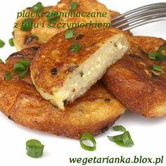 placki ziemniaczane z tofu i szczypiorkiem