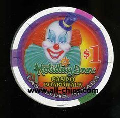 $1 Holiday Inn Casino you can get here http://www.all-chips.com/ChipDetail.php?ChipID=12020  This chip won Casino Chip of the year!