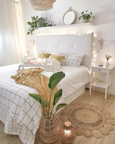123 Our Favorite Bohemian Bedroom Decor Ideas that Will Get you Excited moderndecor. Cute Bedroom Ideas, Room Ideas Bedroom, Small Room Bedroom, Home Decor Bedroom, Bedroom Inspo, Girl Bedroom Designs, Diy Bedroom, Cute Diy Room Decor, Master Bedroom