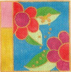 Flower Power -- Danji Desins needlepoint canvas