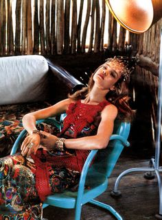 """""""Republican Party"""", Natalia Vodianova photographed by Bruce Weber in W July 2002"""