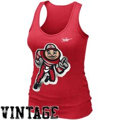 Nike Ohio State Buckeyes Ladies Retro Rib Tank Top - Scarlet