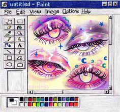 Pretty Art, Cute Art, Pretty Eyes, Art Inspo, Art Du Croquis, Bel Art, Character Art, Character Design, Art Mignon