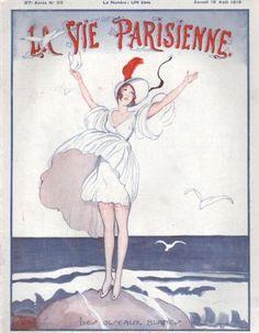 La Vie Parisienne, Samedi 16 Août 1919 ~ Zyg Brunner #LaVieParisienne #Brunner #Août1919