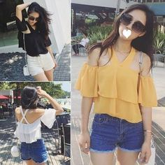 Buy MayFair Chiffon Halter Off-Shoulder Top at YesStyle.com! Quality products at remarkable prices. FREE WORLDWIDE SHIPPING on orders over US$ 35.