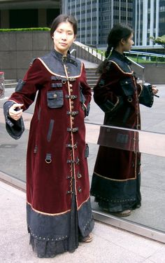 Magnificent Asian-inspired Steampunk coat by The Costume Mercenary