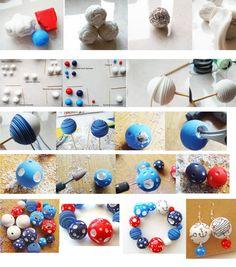 Funky polymer clay beads DIY