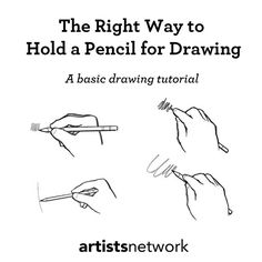 Holding a drawing pencil is more complex than you'd think!