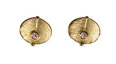 ARS earrings gold 750/- with diamonds tw/vvsi