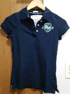新品 アバクロ レディース ポロシャツ ネイビー Sサイズ_画像1