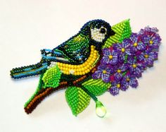 Amazing alive brooches by Lubov Beading Techniques, Embroidery Techniques, Beaded Brooch, Beaded Jewelry, Ribbon Embroidery, Embroidery Designs, Seed Bead Art, Native Beadwork, Beaded Crafts