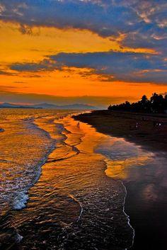 Sunset at beach, Costa Rica