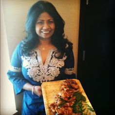 Chef Asha Gomez with her famous fried chicken