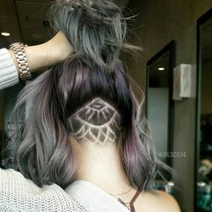 Mandala Patterned Undercut | Shaved Nape | #Haircut #Hairstyle