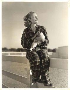 Carole Lombard in flannel