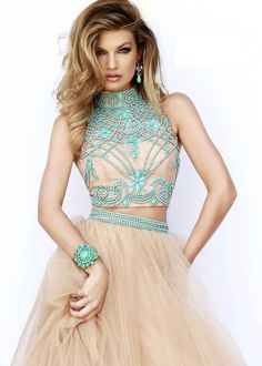 187c367c12 vestido dos -piezas Vestidos Con Pedreria