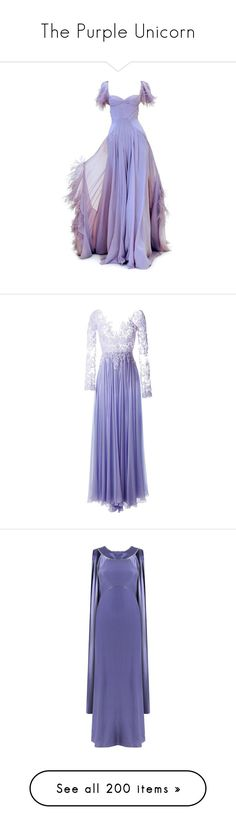 """The Purple Unicorn"" by summersurf2014 ❤ liked on Polyvore featuring dresses, gowns, long dresses, purple, vestidos, purple evening dress, purple evening gowns, purple dresses, long purple dress and sequin embellished dress"