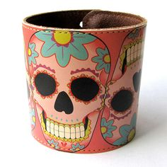 Sugar skull cuff.