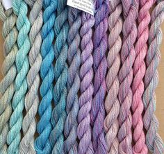These hand dyed threads are soooo pretty!