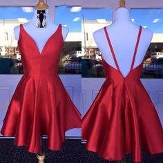 A wide selection of homecoming dresses short,juniors dress and long short dresses are at a discount and recommends semi formal dresses 2017 with v neck and sexy back real picture red satin short homecoming dress custom made greatly. Red Homecoming Dresses, Hoco Dresses, Junior Dresses, Dance Dresses, Evening Dresses, Dress Outfits, Red Hoco Dress, Bridesmaid Dresses, Chiffon Dresses