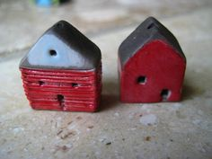house beadskiln firedclay raku by Jubilee on Etsy, $13.00