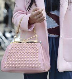 Sara Battaglia bag at Milan Fashion Week