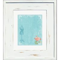 Large Distressed White Recessed Picture Frame Medicine Cabinet (14