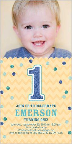 107 Best Baby Boy S 1st Birthday Invitations Images Baby Boy 1st