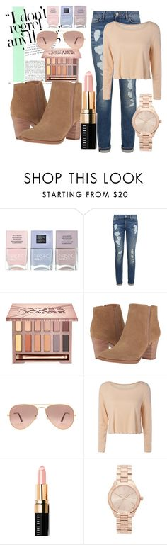 """CANDY COLOR STYLE."" by nurinur ❤ liked on Polyvore featuring Nails Inc., Tommy Hilfiger, Urban Decay, Franco Sarto, Ray-Ban, Bobbi Brown Cosmetics and Michael Kors"