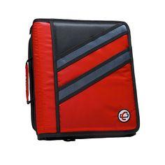 Amazon.com : Case-it Z-Binder Two-in-One 1.5-Inch D-Ring Zipper Binders, Red…