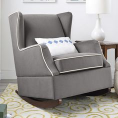 Baby Relax Hudson Wingback Rocking Chair & Reviews | Wayfair