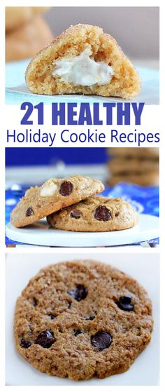Includes recipes for everything from classic chocolate chip to peanut butter gingerbread to every other type of cookie you could possibly imagine! http://chocolatecoveredkatie.com/2014/12/07/healthy-holiday-cookie-recipes/