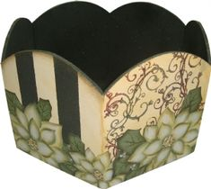 Materiais - Porta Panetone Decorado - Aula na TV - 12/11/10 Decoupage Vintage, Decoupage Wood, Decor Crafts, Diy Crafts, Painting On Wood, Fabric, Handmade, Paper Craft Supplies, Cool Crafts