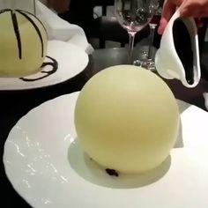 This White Chocolate Sphere Dessert