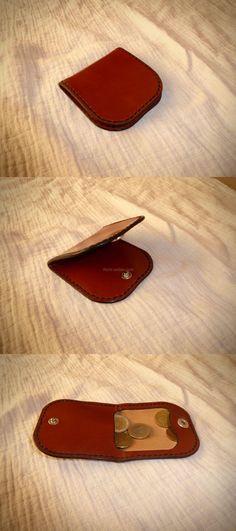patron porte monnaie en cuir, modèle grand père