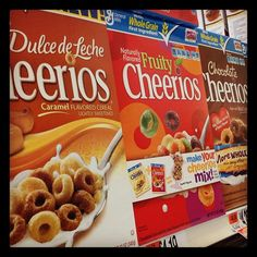 Cheerios were originally called Cheerioats. They shortened it in the 1940s after a trade-name dispute with Quaker Oats. #grocerystore