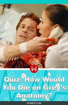 How would YOU die in Grey's Anatomy? If you really want the answer, take this quiz and we'll let you know. Grey's deaths, Grey Sloan, Seattle Grace, Derek Shepherd, George O'Malley, Greys Anatomy Quiz. Grey's Accidents, Meredith Grey. Christina Yang. McDreamy. McSteamy. Alex Karev. Shonda Rhimes.