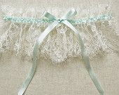 Luxe french lace, silk and Swarovski - Florrie Mitton Antiquity garter