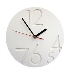 White Large 12.0.Clock - £22 > http://www.modern.co.uk/p/White_Large_12.0.Clock.htm